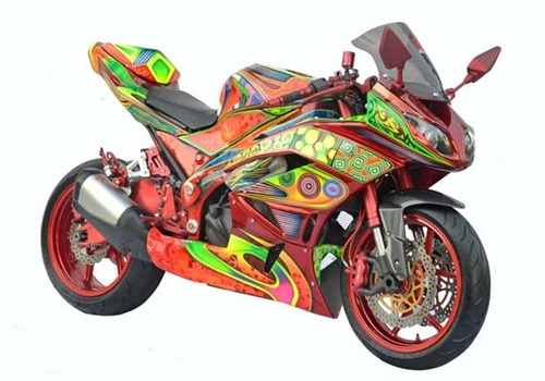 Galeri Gambar dan Foto Modifikasi Motor Kawsaki Ninja Airbrush 250cc