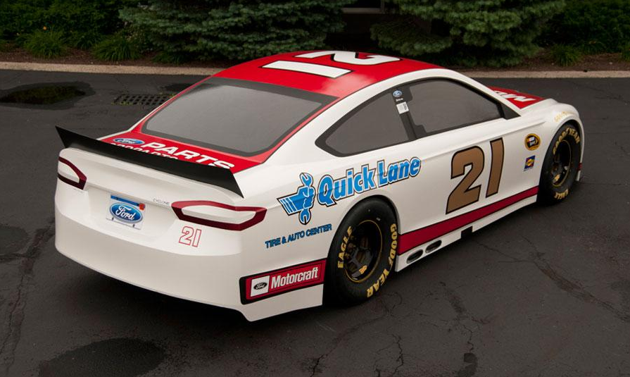 ... Jr. take the 2013 NASCAR Ford Fusion for it's first hot lap