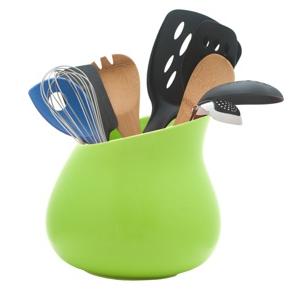 utensil holder, green