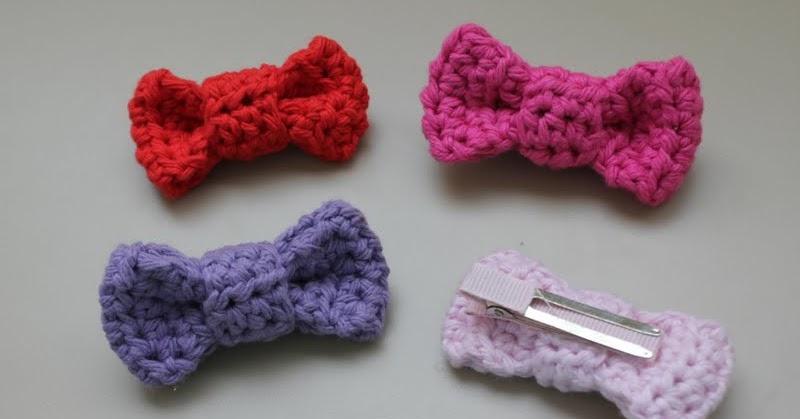 Risc Handmade Crochet Bow Hair Clip Pattern