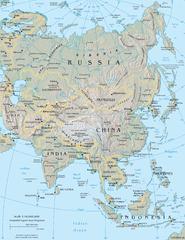 Gambar Peta Dunia Lengkap - Asia