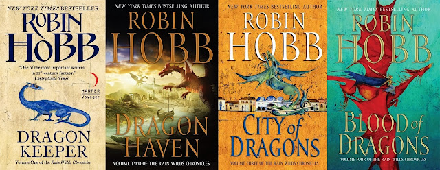 Book Covers of Rain Wilds Chronicles by Robin Hobb