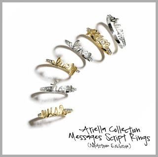 Script Rings Silver and Gold