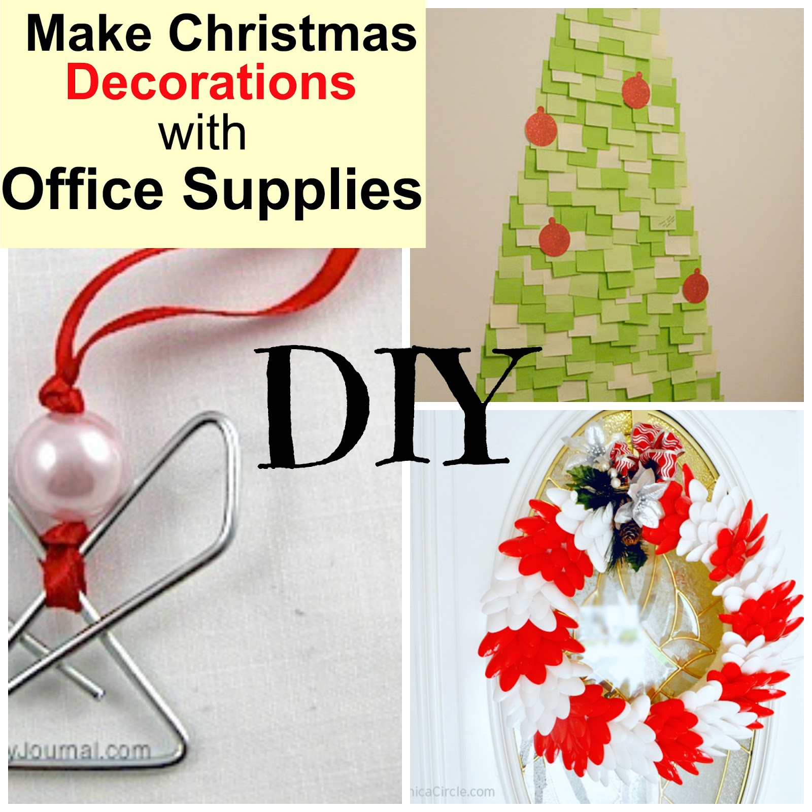 DIY Office Supplies Christmas Decorations