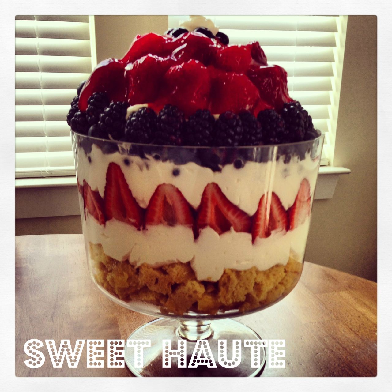 4th Of July Fresh Berry Trifles Recipe — Dishmaps