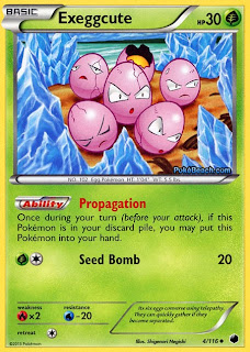 Exeggcute Plasma Freeze Pokemon Card