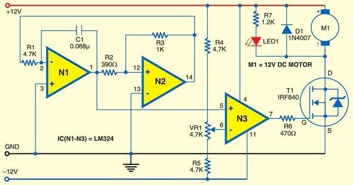 Nte Electronics Circuit  Small Dc Motor Control Using Pwm