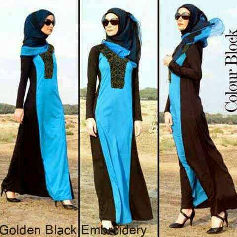 Baju Gamis Golden Black Embroidery G603
