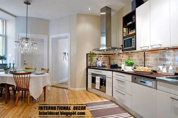 Scandinavian style kitchen interior design