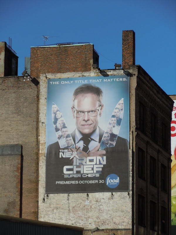 Next Iron Chef billboard NYC