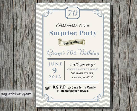 Surprise Adult Birthday Invitations
