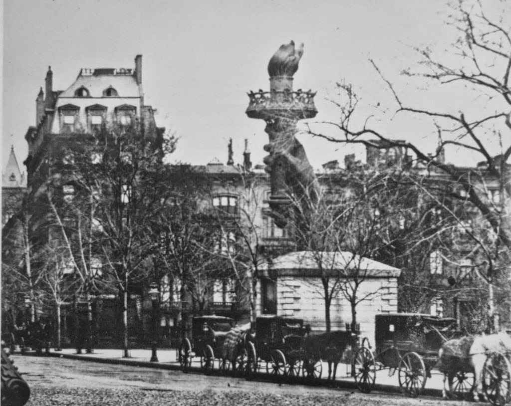 new york history geschichte torch at madison square 1876 82. Black Bedroom Furniture Sets. Home Design Ideas