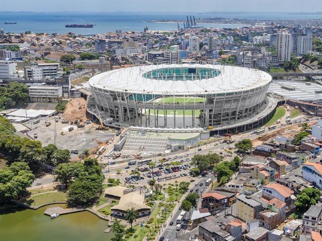 Obras do estádio da Fonte Nova estão concluídas