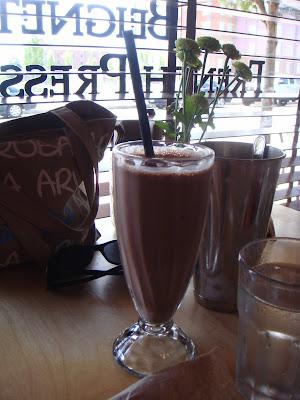 Chocolate shake at Duckfat, Portland, Maine