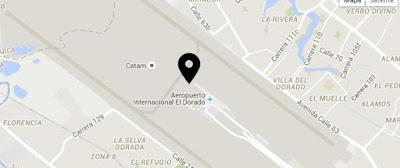 Mapa de ubicacion Aeropierto Internacional el Dorado