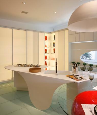 Cocinas futuristas fotos ideas para decorar dise ar y - Muebles ahorra espacio ...