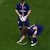 Luiz removes referee's spray for Ibrahimovic free kick