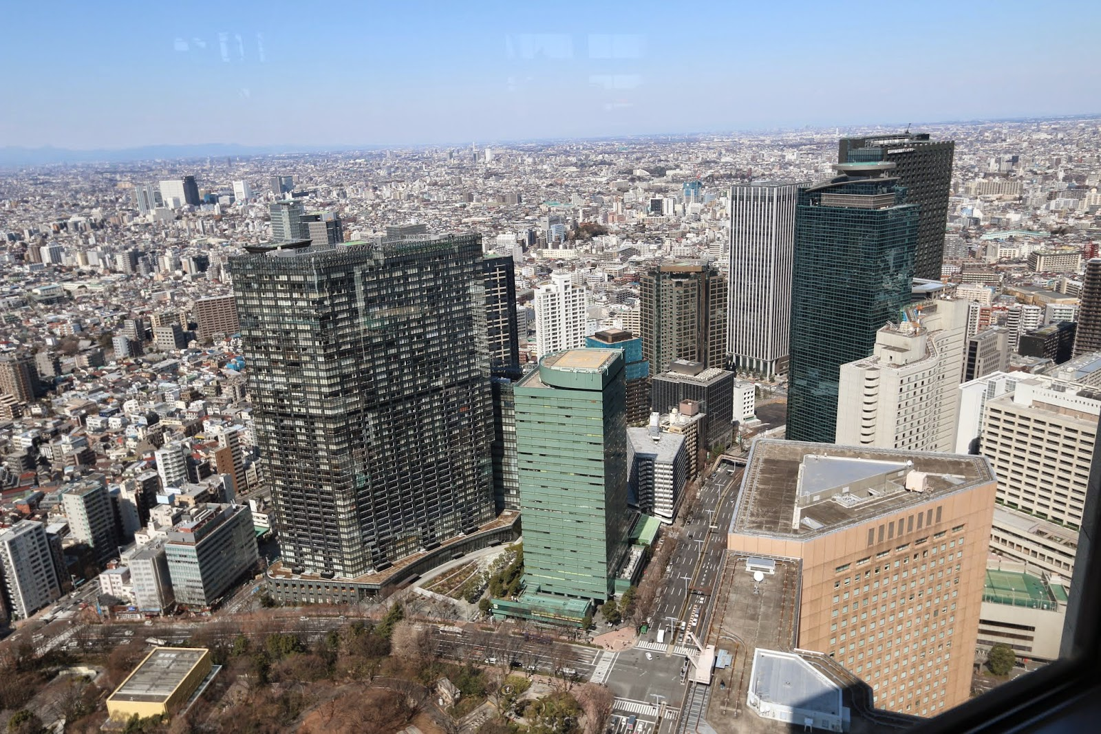 Another closer compact and high density of Tokyo city from the observation deck at Tokyo Metropolitan Government Building in Shinjuku