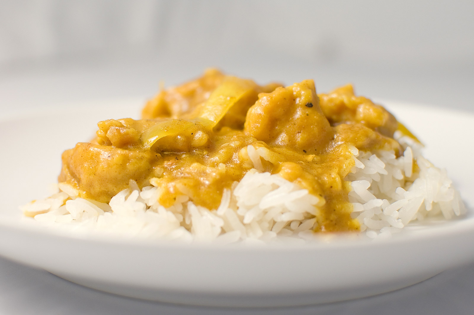 It's a women's world: Chicken curry with White Rice