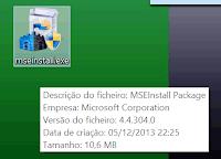 aplicação antivirus grátis mseinstall.exe
