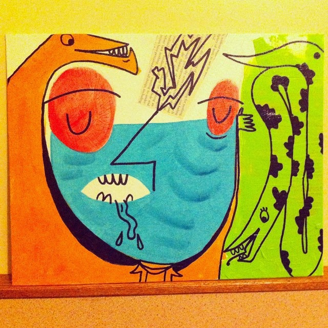 Snakes Acrylic Painting by Will Hoffman