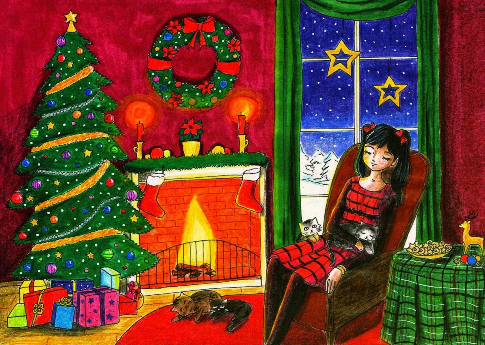 merry christmas weihnachten advent zeichnung