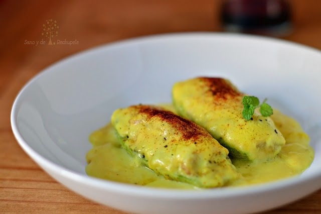 Calabacines rellenos y gratinados (receta sin horno)