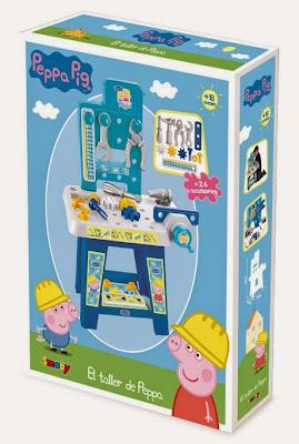 JUGUETES - PEPPA PIG - El Taller de bricolage de Peppa  Producto Oficial 2015 | Smoby 2404P | A partir de 18 meses