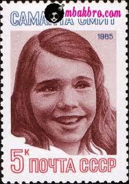 perangko Rusia yang bergambar Samantha Smith