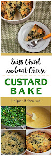 Swiss Chard and Goat Cheese Custard Bake found on KalynsKitchen.com