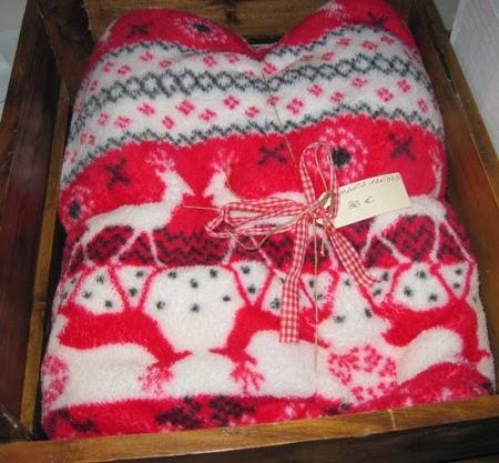 Manta navidad renos roja y blanca