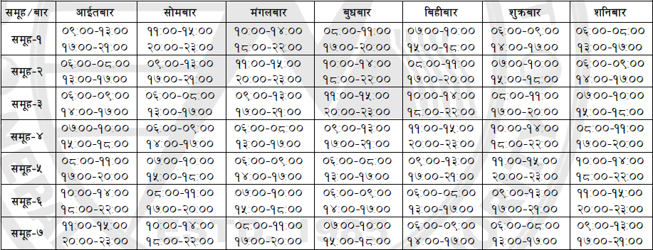 nea-load-shedding-schedule