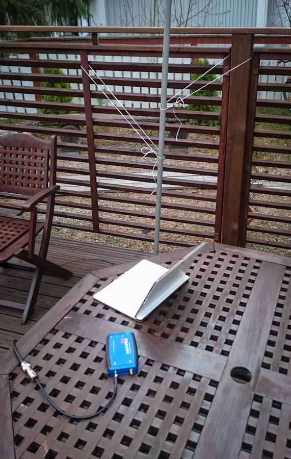 MiniVNA ja android pädi Yagi antennin mittauksessa