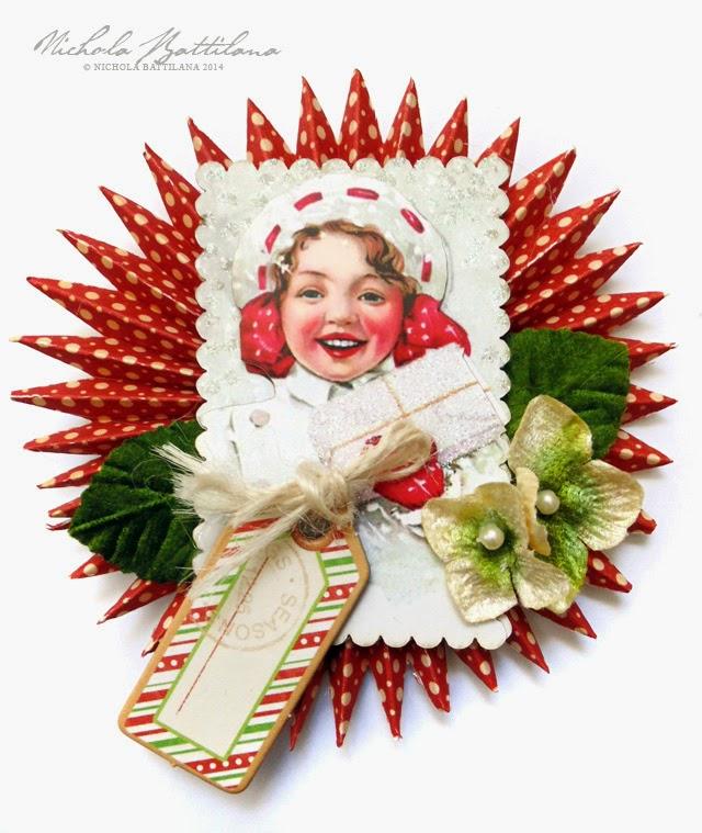 Paper rosette present toppers - Nichola Battilana