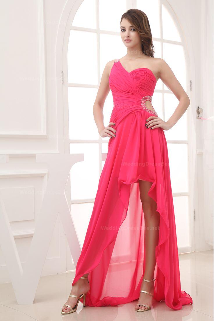 Pink wedding dress with golden high heels for ladies