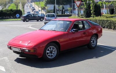 Base Porsche 924 was a simple sports car, this one appears to be in Eastern Europe