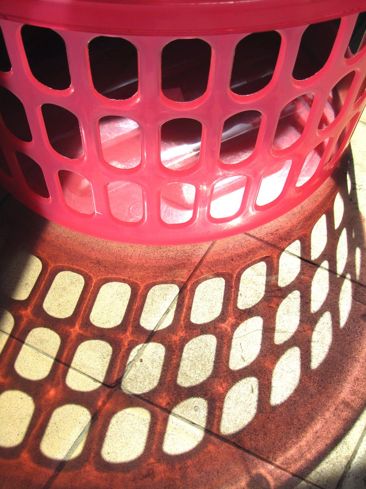 light: pink laundry basket