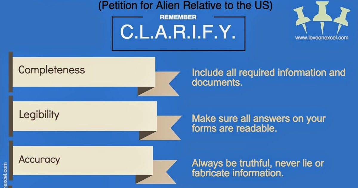Clarify Your Case Tips On Completing Form I 130 Petition For Alien