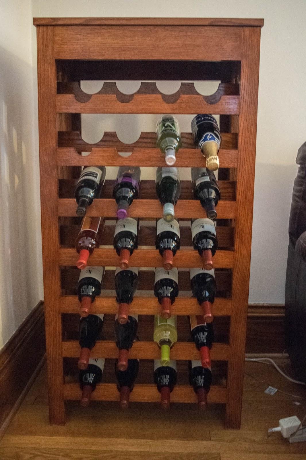 Warrior Woodwork: Mission Style Wine Rack