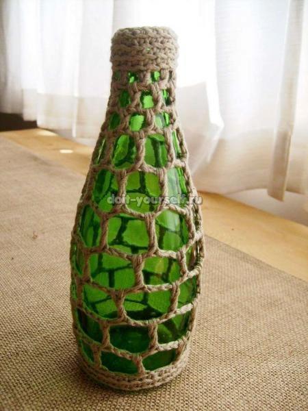 Вазочки из бутылок фото