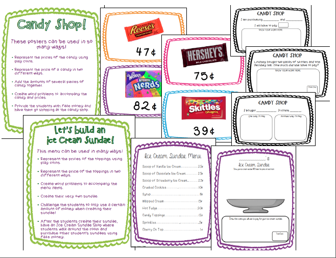 http://www.teacherspayteachers.com/Product/Sweet-Money-Counting-and-Adding-Money-with-Candy-and-Ice-Cream-1142567