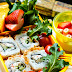 Lunch Box: Sushi Roll with Fruits and Vegetables