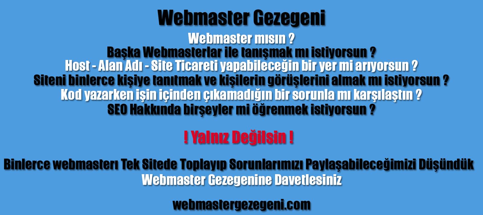 Webmaster Gezegeni