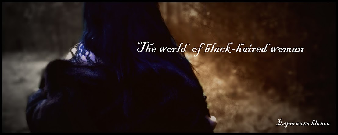 The world of black-haired woman