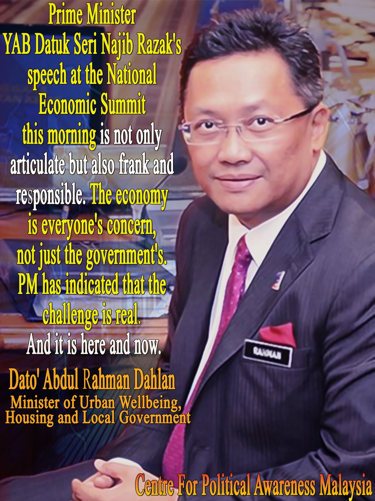 National Economic Summit PM has indicated that the challenge is real