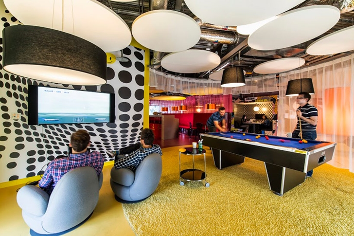 Gaming room in Google office in Dublin