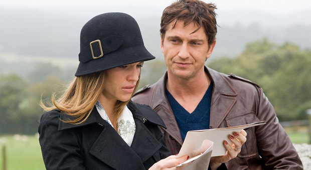 Hilary Swank y Gerard Butler en Posdata: Te quiero