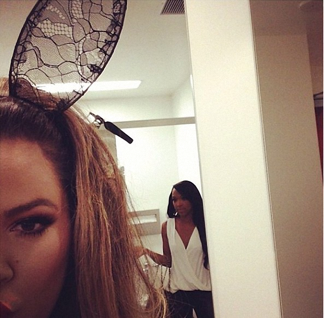 Khloe Kardashian coneja de pascua