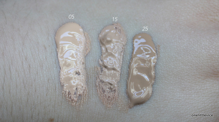 onelittlevice beauty blog: full coverage foundation swatches