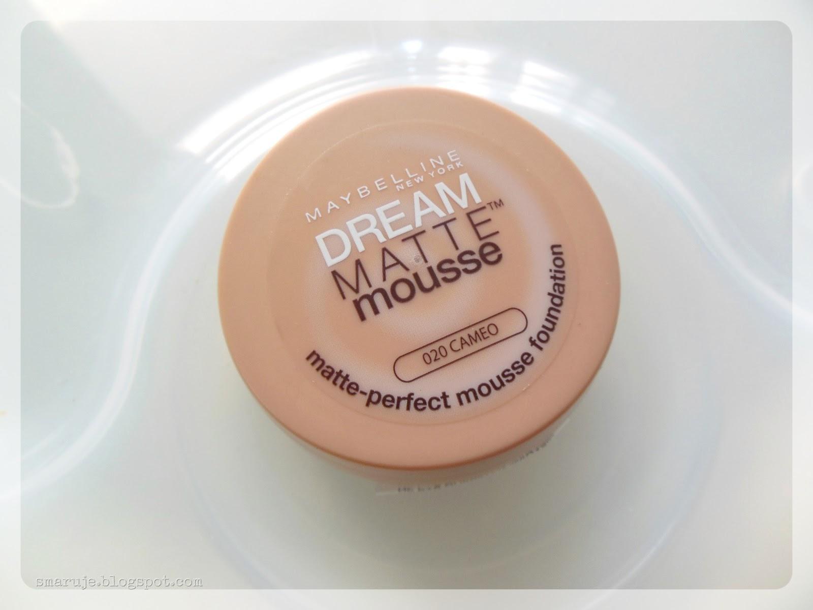 Ptasie mleczko do twarzy: Maybelline –Dream Matte Mousse [recenzja]